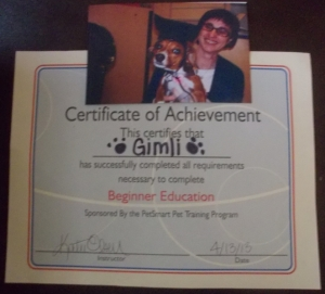 Gimli's graduation